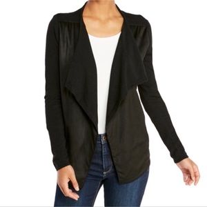 NWT Suede Front Waterfall Cardigan Jacket
